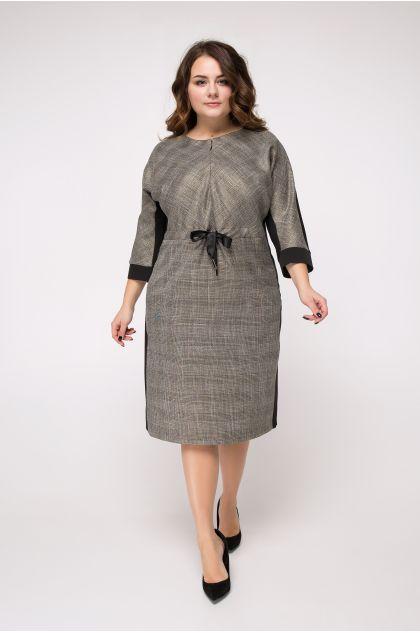 """Платье """"Алуста"""" (черный+серый)"""