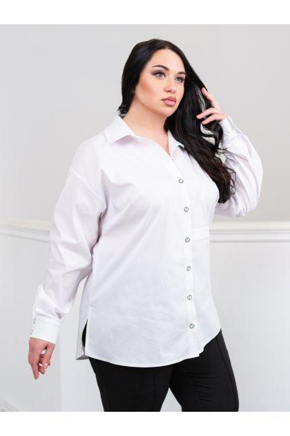 """Белая классическая рубашка """"Венесуэла"""""""