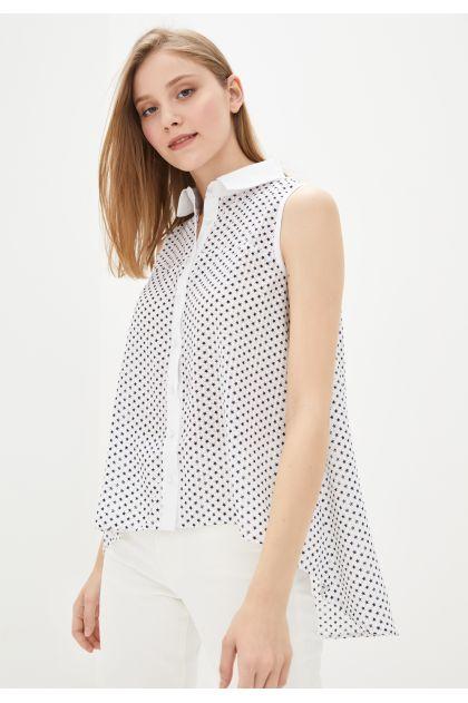 """Рубашка """"Нэнси"""" (белый+черный)"""
