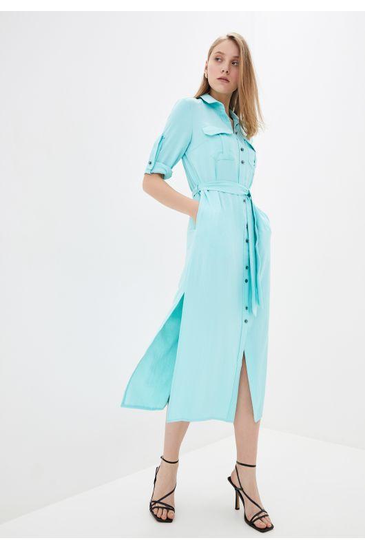 "Платье-рубашка ""Лимана"" (бирюзовый)"