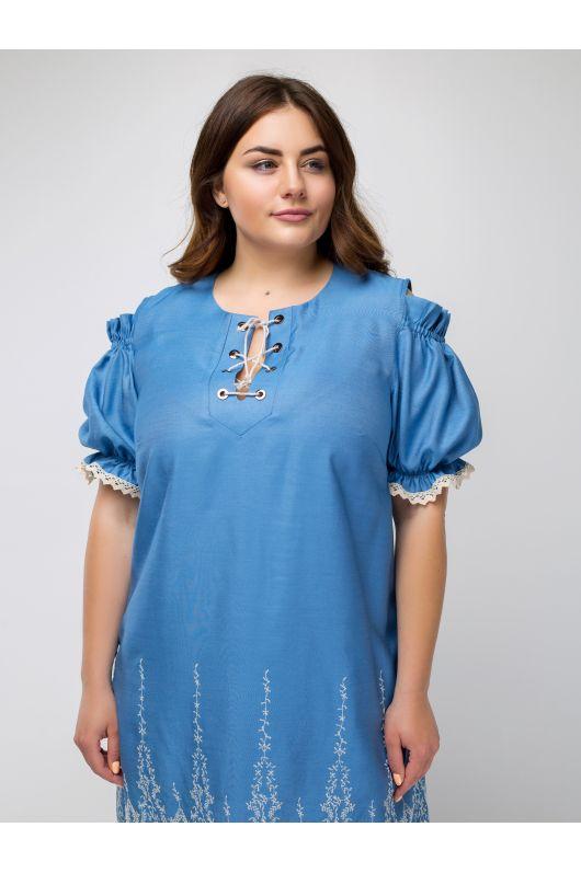 """Платье """"Надин"""" (голубой)"""
