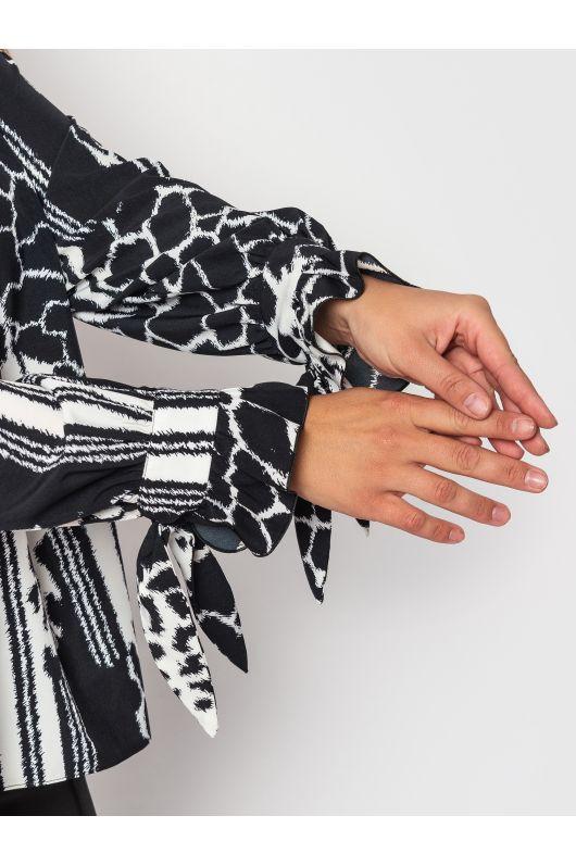 "Блуза ""Алва"" (черный+белый)"
