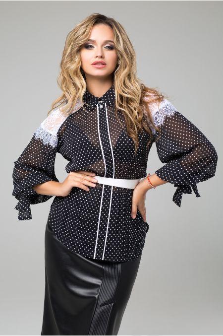 """Блуза """"Богдана"""" (черный)"""
