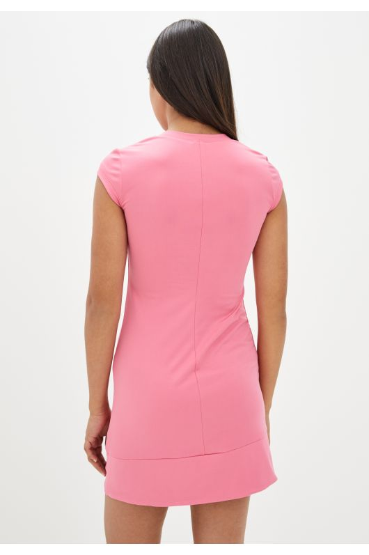 """Платье """"Лузана"""" (розовый+темносиний)"""