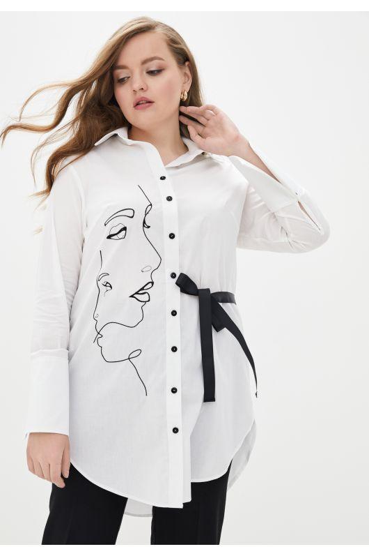 """Рубашка """"Камерон"""" (белый)"""