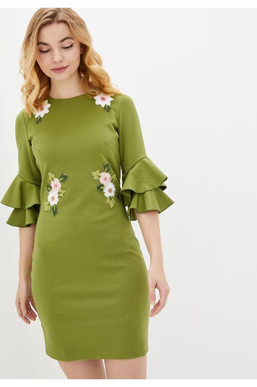 """Платье """"Орнелла"""" (зеленый)"""
