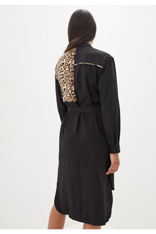 """Платье-рубашка """"Лавиния"""" (черный)"""
