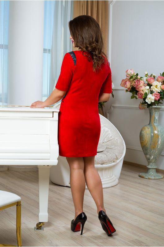 """Платье """"Вассаби"""" (красный+зел. сапфир)"""