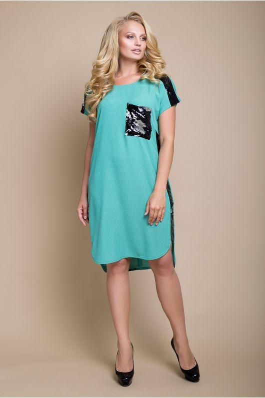 """Платье """"Бруклин"""" (зеленая пастель)"""