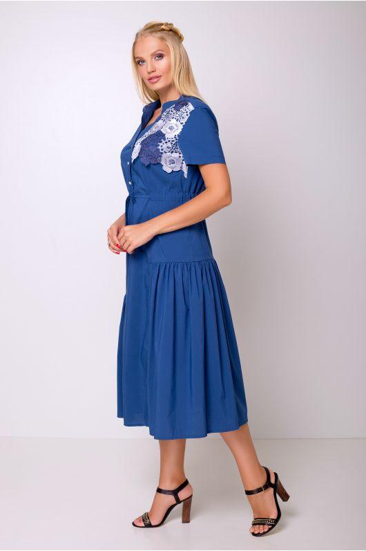 """Платье """"Барлетта"""" (джинсовый цвет)"""