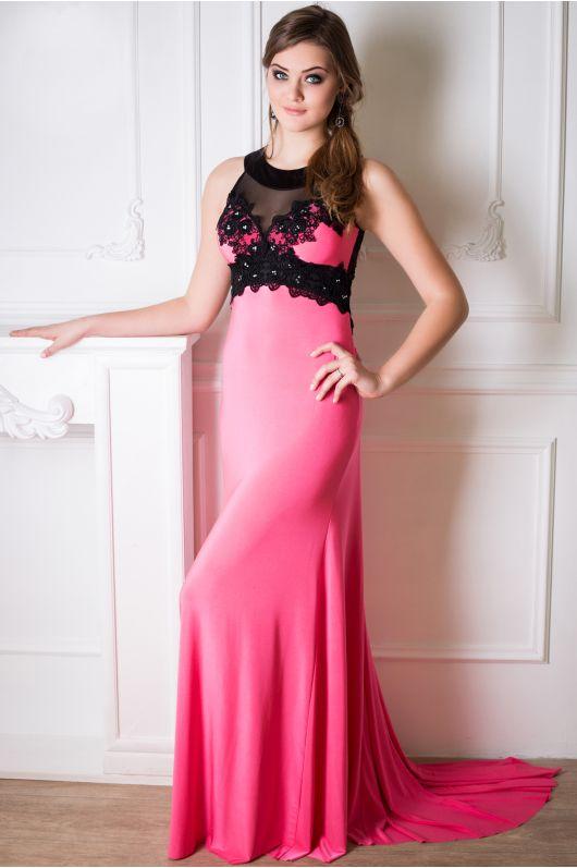 """Платье """"Кассандра"""" -розовый (со шлейфом)"""