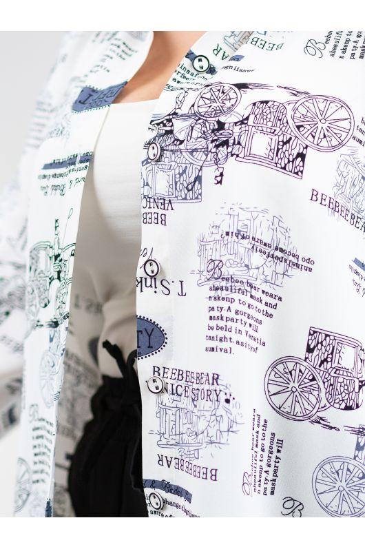 """Удлиненная рубашка """"Колизей"""" (белый)"""