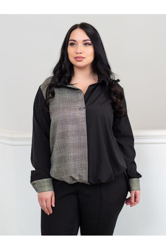 """Блуза """"Холи"""" (черный+серый)"""