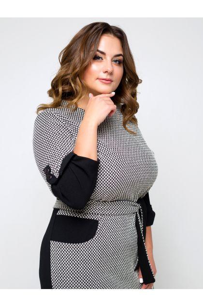 """Платье """"Вербания"""" (черный+белый)"""