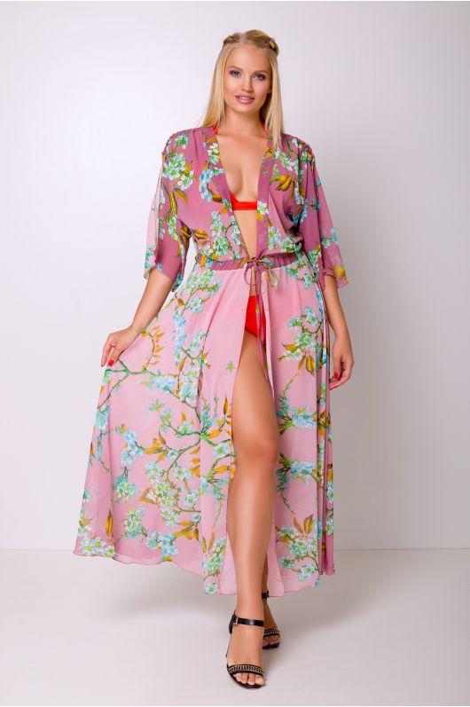 """Платье-туника """"Эквадор"""" (розовый/сакура)"""