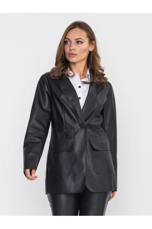 """Кожаный пиджак """"Маршал"""" (черный)"""