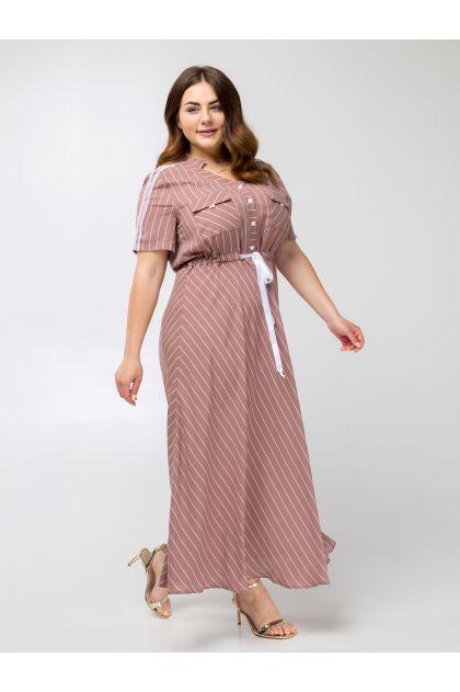 "Платье ""Сатина"" (капучино)"