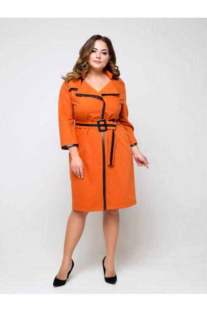 """Платье """"Мальфа"""" (терракотово-оранжевый)"""