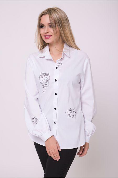 """Рубашка """"Помпея"""" (белый)"""