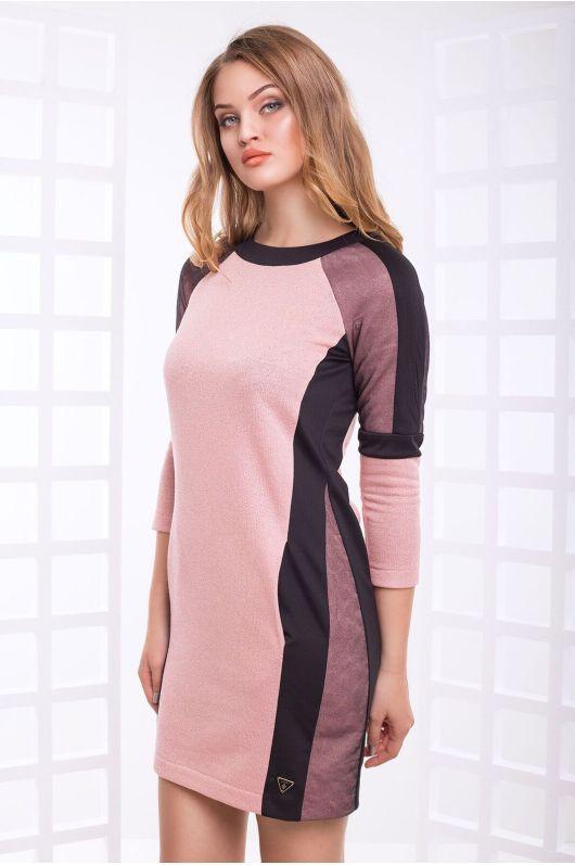 """Платье """"Дебора"""" (розовый+черный)"""