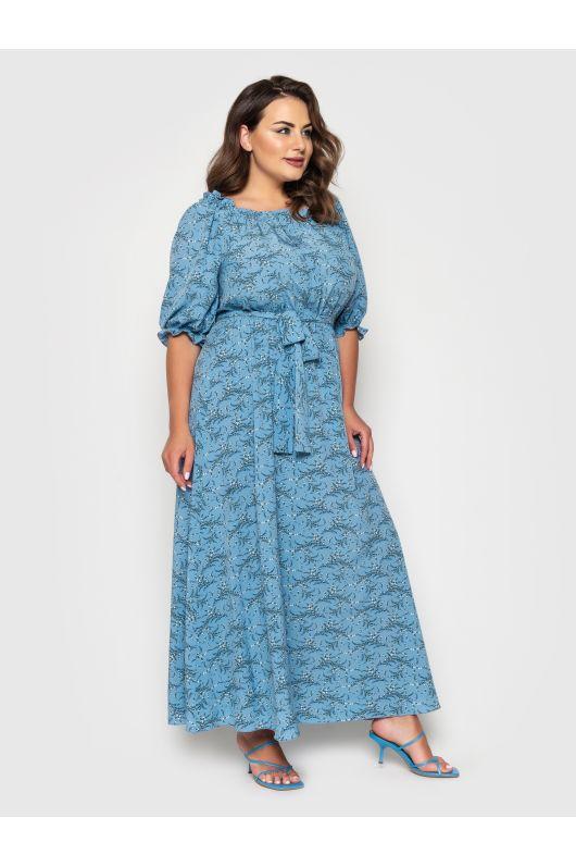 """Платье """"Медисон"""" (голубой)"""