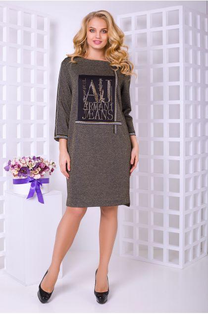 """Платье """"Армани"""" (черный с зол. люрексом)"""