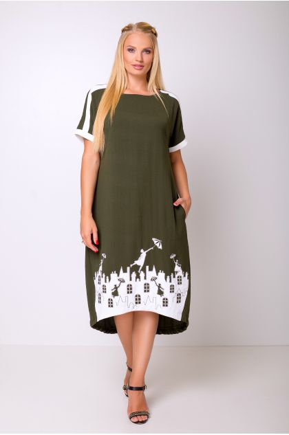 """Платье """"Арсения"""" (хаки)"""