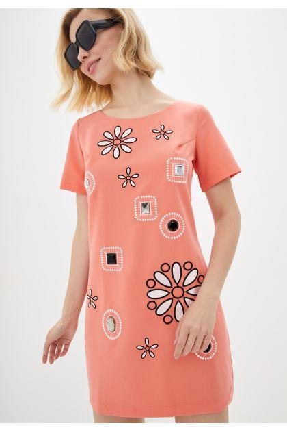 """Платье """"Соланж"""" (коралл)"""