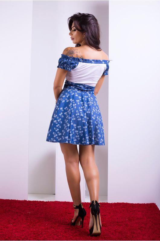 """Платье """"Юнона"""" (черри-джинс)"""