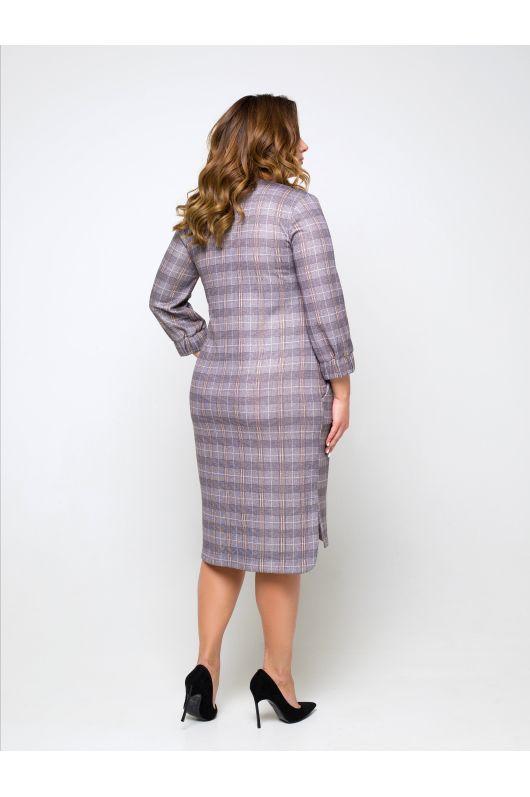 """Платье """"Труди"""" (серый/клетка)"""