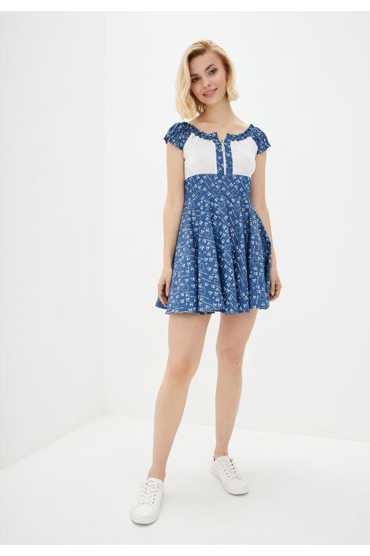 """Платье """"Юнона"""" (микки-джинс)"""