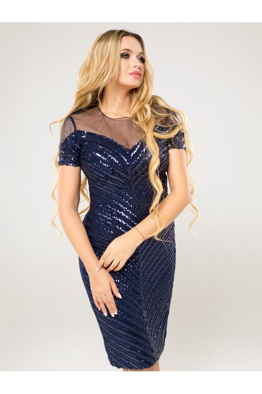 "Платье ""Элис"" (темно-синий)"