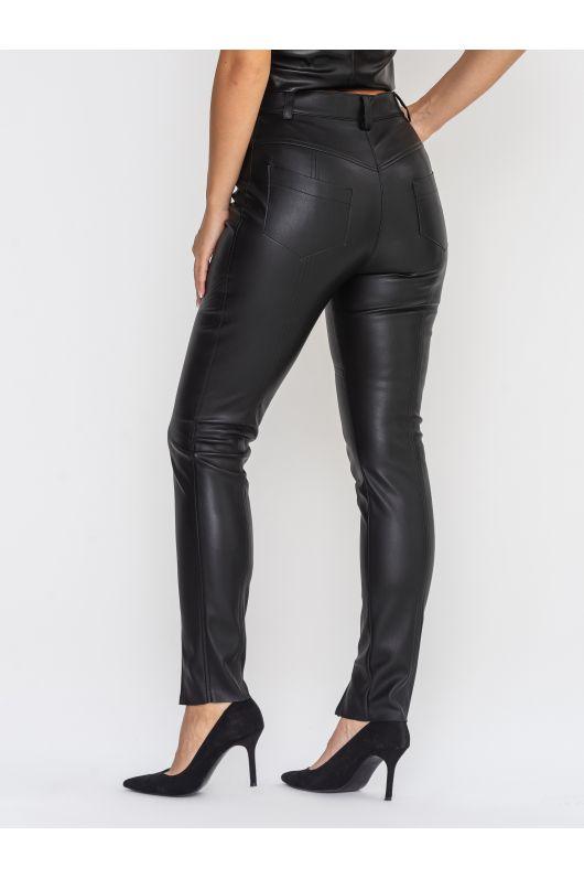 """Кожаные брюки """"Теренс"""" (черный)"""