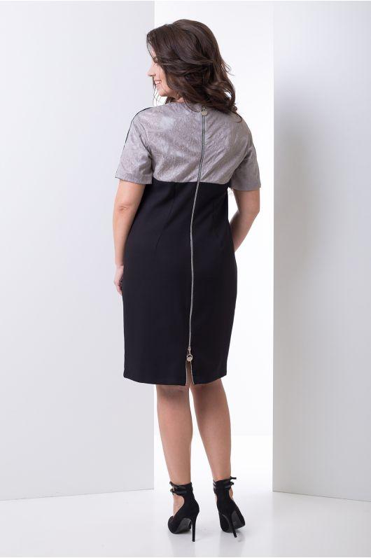 """Платье """"Люсси"""" (черный+серый)"""