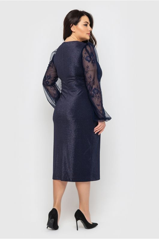 """Платье """"Меган"""" (темно-синий)"""