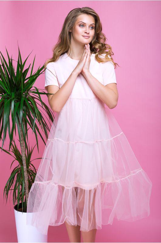 "Платье ""Шарм"" (пудра)"