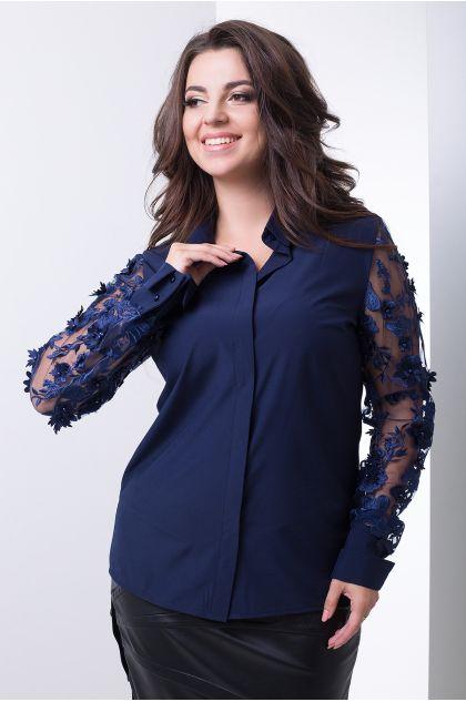 """Рубашка """"Пандора"""" (темно-синий)"""