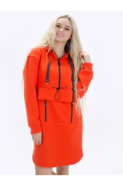 """Платье """"Мэрая"""" (оранжевый)"""