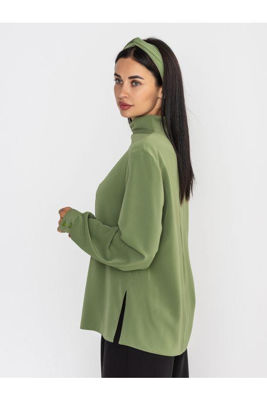 """Блуза """"Кашарель"""" (оливковый)"""
